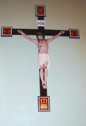 Mission Cross in memory of Jack Webb, St. Gregory's, Queanbeyan. Image provided by Elizabeth Burness.